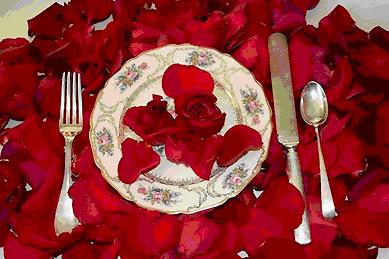 Съедобные розы - отличное добавление к салатам и десертам
